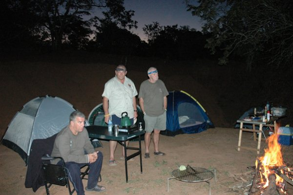 Bush braai shortly after sunset  33km after Mueda on way to Tanzania Border…..