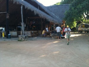 Russel's place in Pemba where we parked our cars for safekeeping whilst we