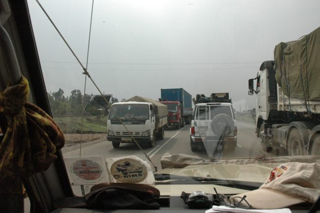 On road to Addis