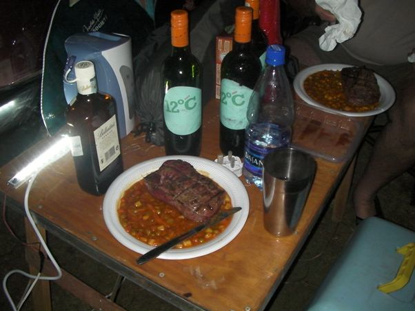 and here are the ingredients of a nice Dinner under the stars in Africa