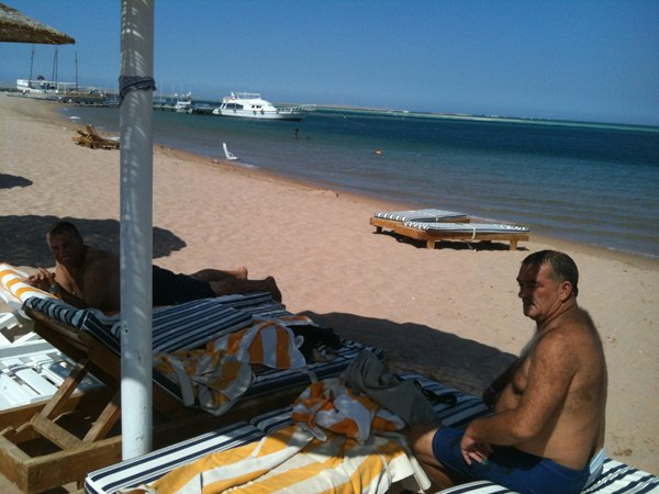 And here is the reward …. Relaxing on the beaches of the red sea