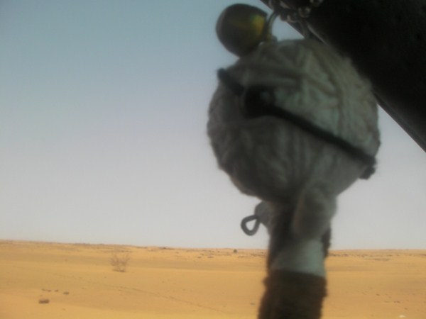 Approaching the cruelly hot Nubian desert