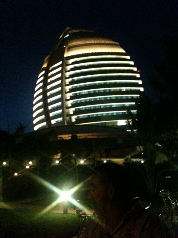 the other team members enjoyed the Burj el Fateh with its very nice garden restaurant….