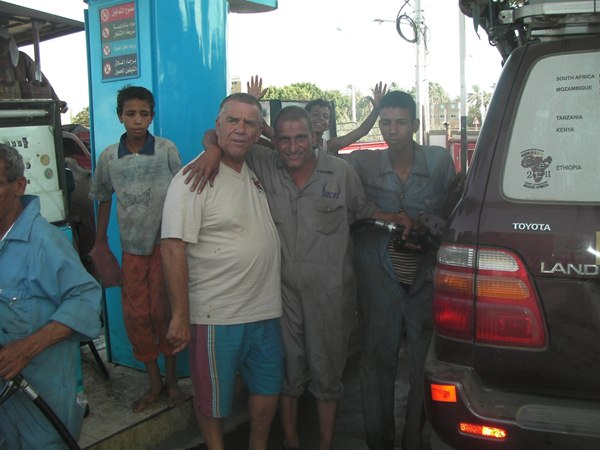 Petrol attendants were over friendly