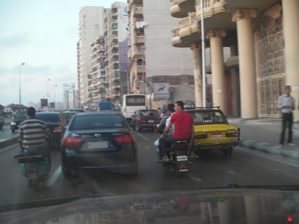 and then the teams hit heavy traffic in Alexandria