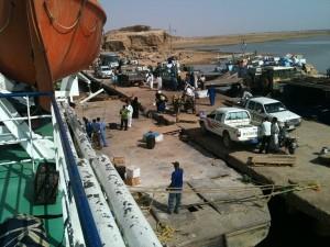 the harbour of Wadi Halfa