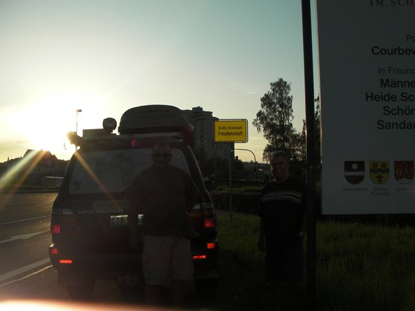 Arriving in Freudenstadt at sunset time 2nd August 2011