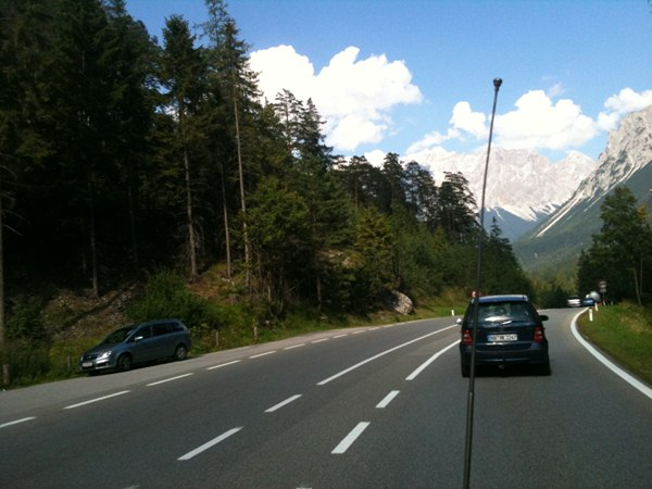 Crossing the alps…..