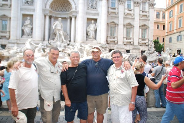 …the Trevi fountain in Rome...