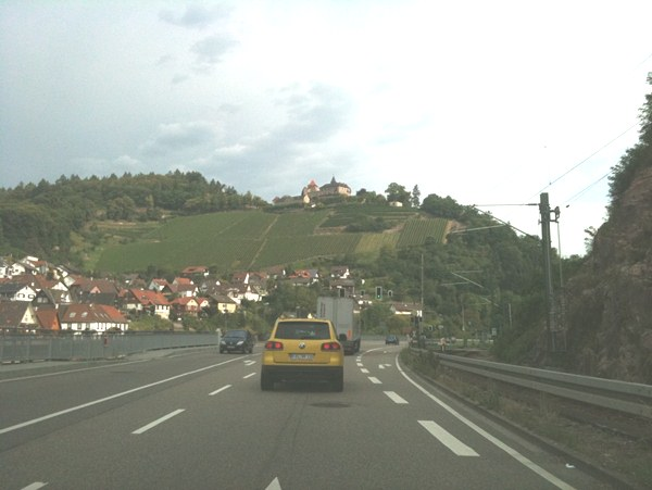 leaving the black forest driving to Frankfurt airport…