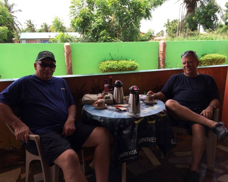 Coffee time before proceeding to the border between Ghana and Togo