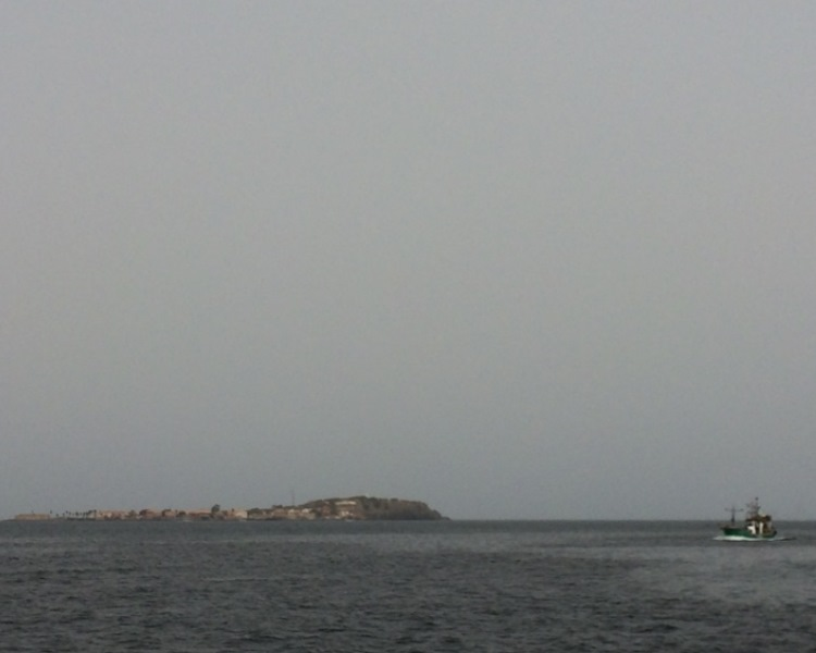 Goree Island seen from Dakar
