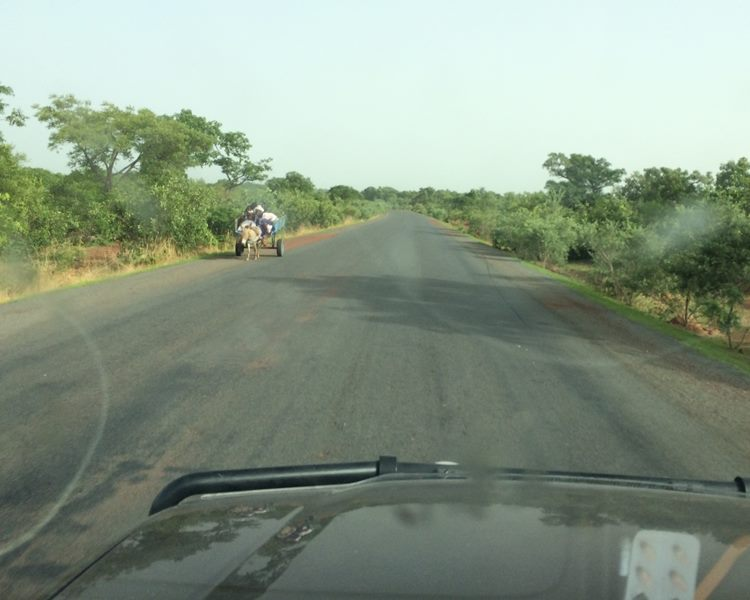 The traffic became heavier and heavier on approach to Bamako…