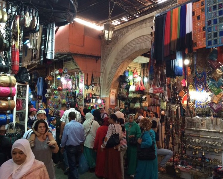 old traditional markets in Marrakech