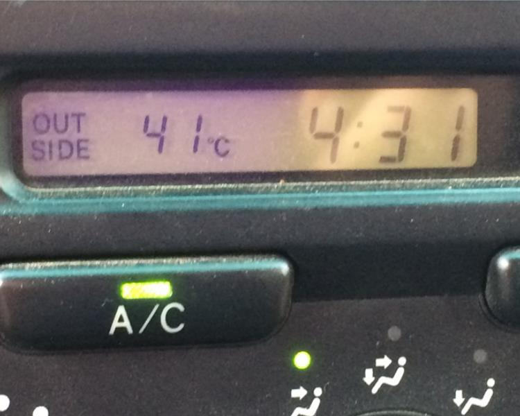 temperatures reaching 42 C