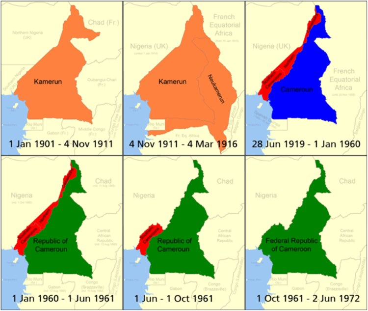 – over the years Cameroun was ruled by the Germans, the British as well as the French before becoming independent and unified in 1972