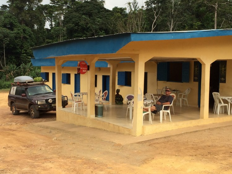 A Bush restaurant on the way to Libreville
