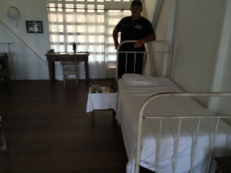 And Andre checking out the hospital beds of times gone by