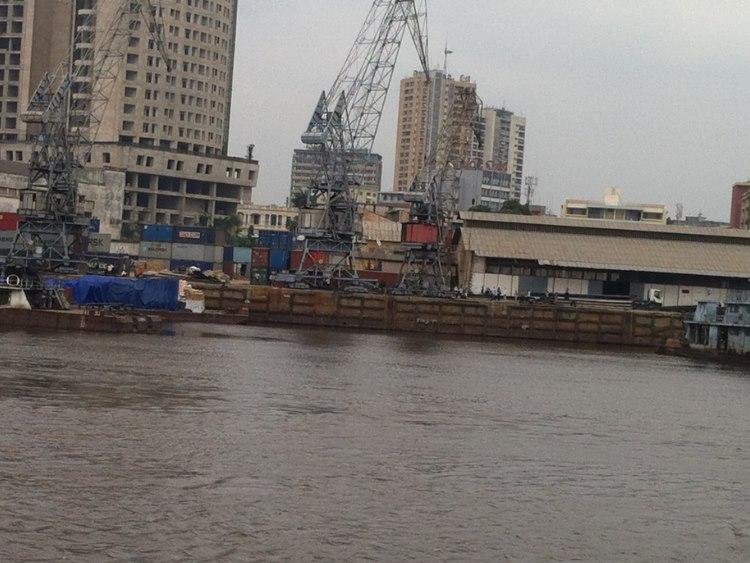 Kinshasa goods harbour