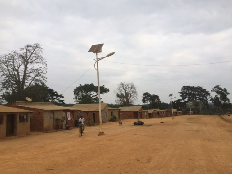 Most villages have solar lights brightening the main street at night!