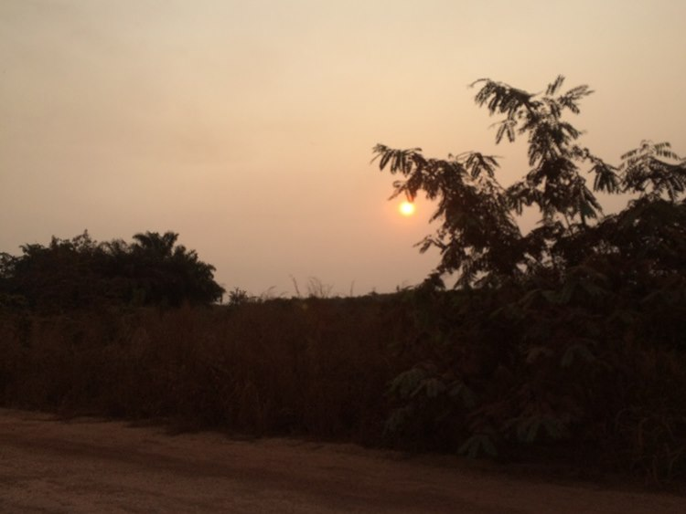 Sunset on way to Brazzaville