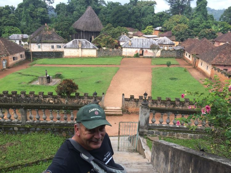The palace buildings of the Fon in Bafut (northwestern Cameroun)