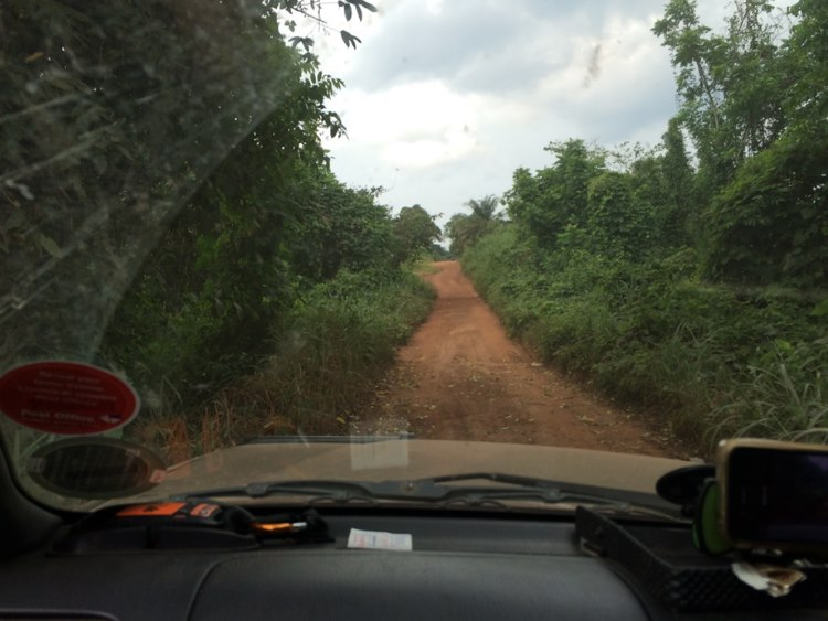 The road connecting Gabon and Congo …