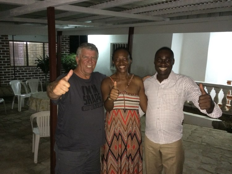 Willy with Edith and Willy team Lipsticks host in Oyem - Gabon