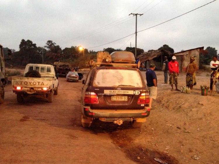 stranded in Mindouli 120km west of Brazzaville