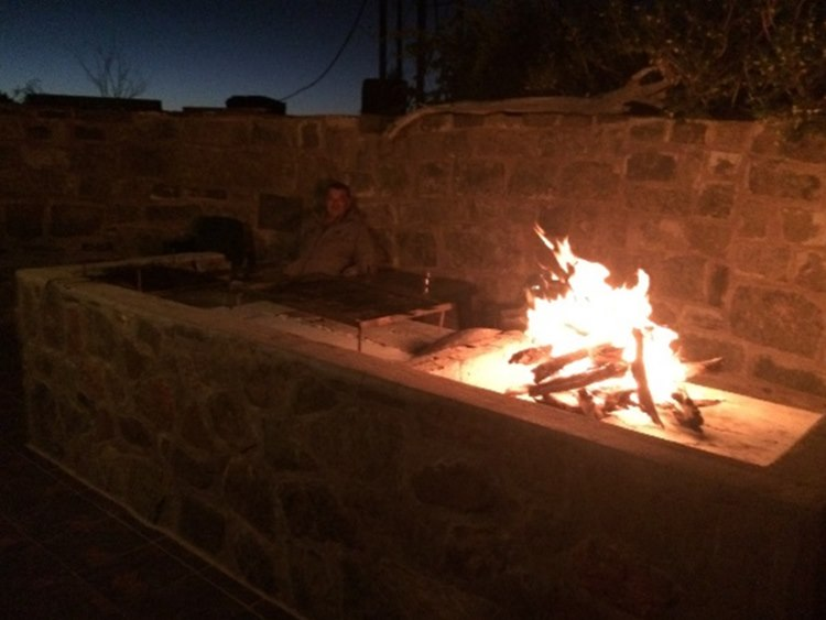 Great Braai on a farm in Namibia