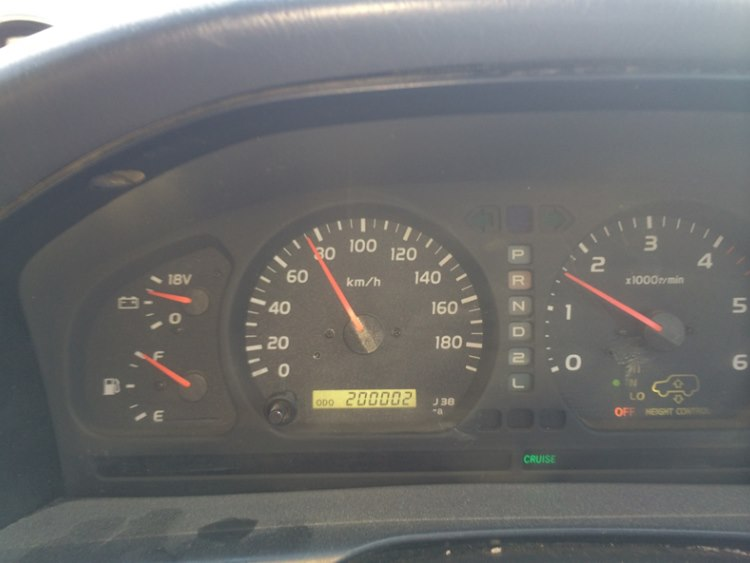 Lipstick passed the 200000km mark - Happy birthday Lipstick!