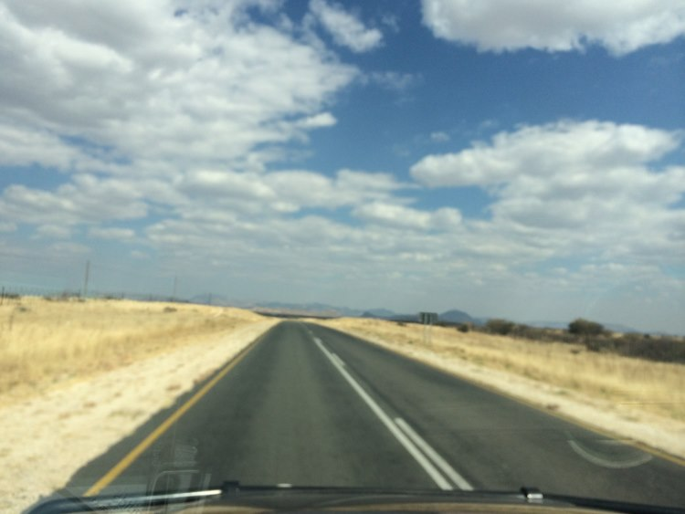 Off towards Swakopmund again on beautiful long straight roads