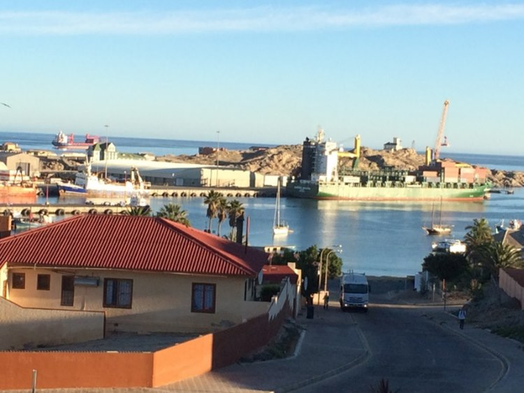 The harbour of Luederitz