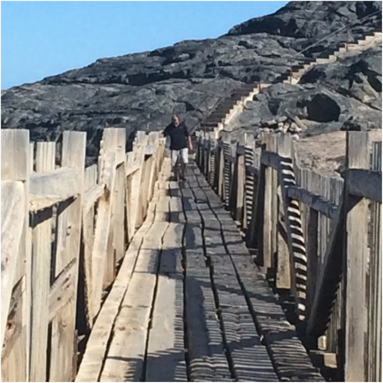 Wooden bridge requires careful walk