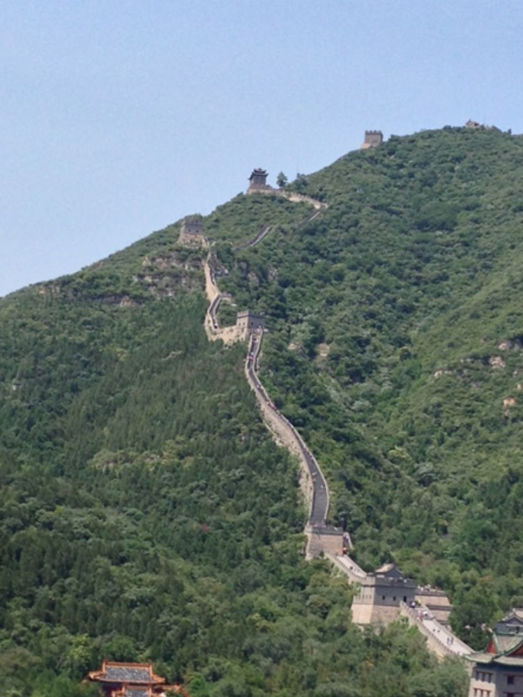 The great Wall making its way over the mountains