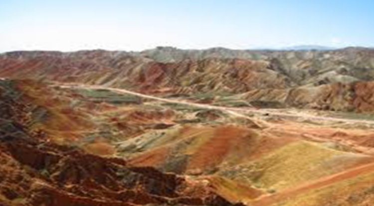 A very colorful range of mountains forms part of the park