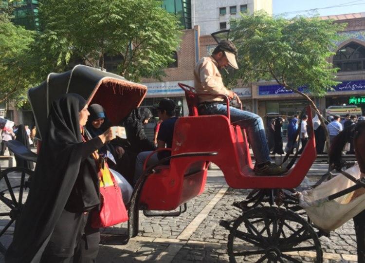 Alternative modes of transport in Teheran