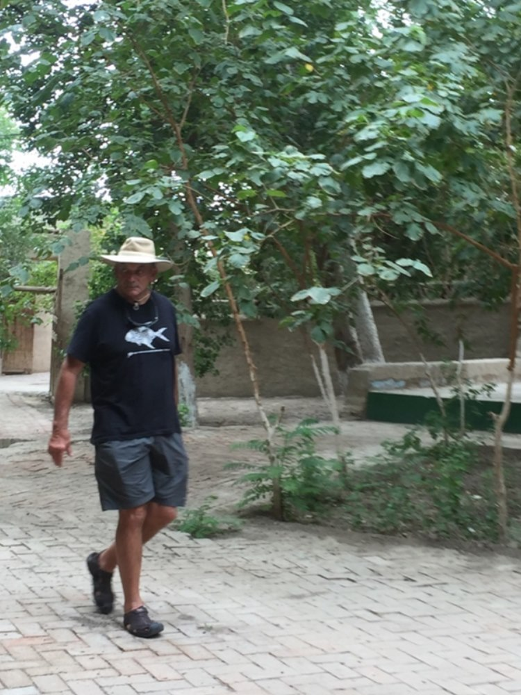 Andre on the way to inspect the underground water system in Turpan.