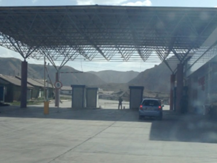 The Border post of Kyrkistan
