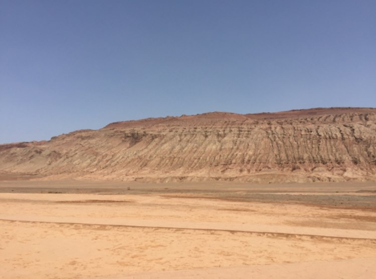 The flaming mountains east of Turpan