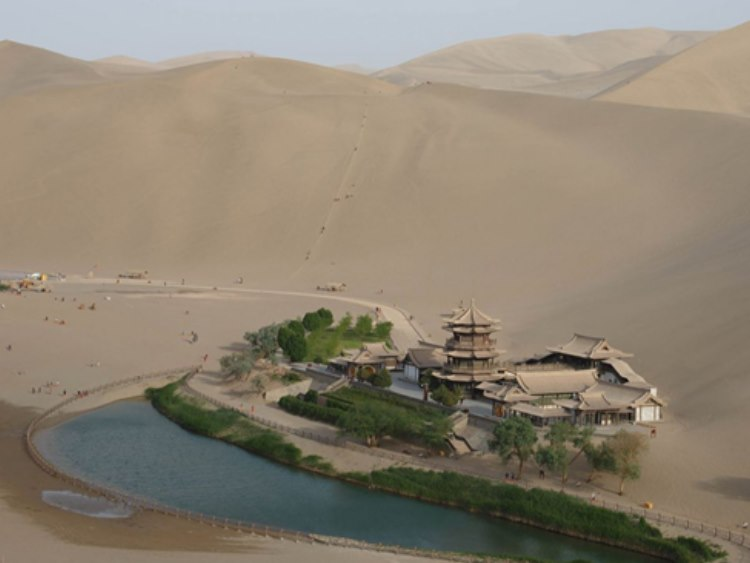 This ancient oasis in the middle of a Chinese desert