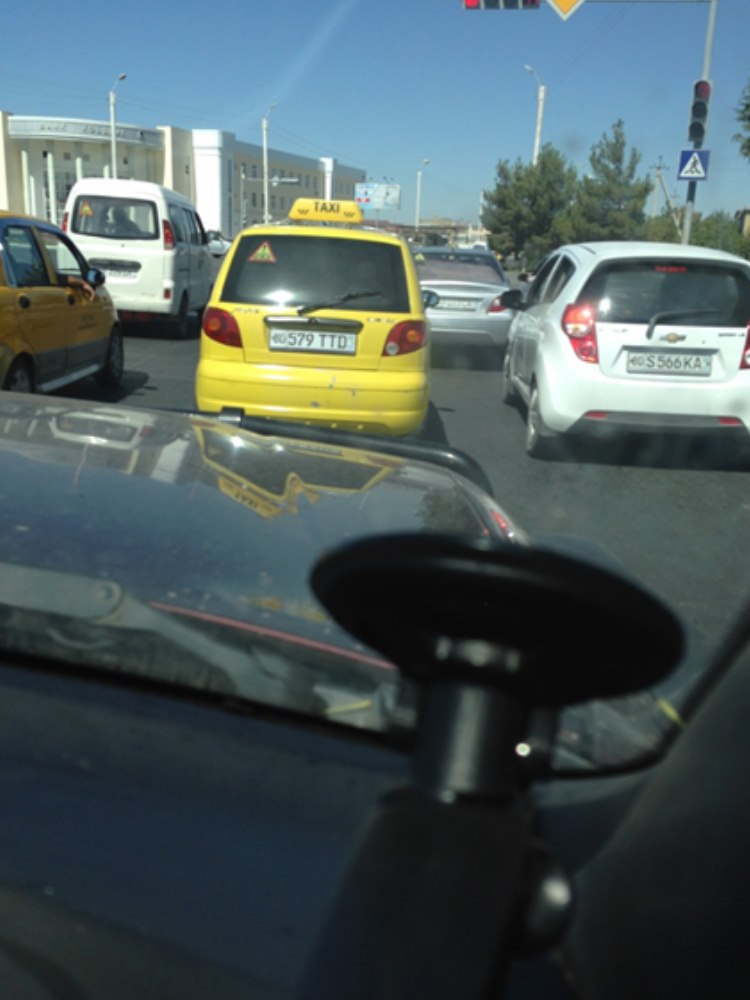 heavy morning traffic in Bukhara