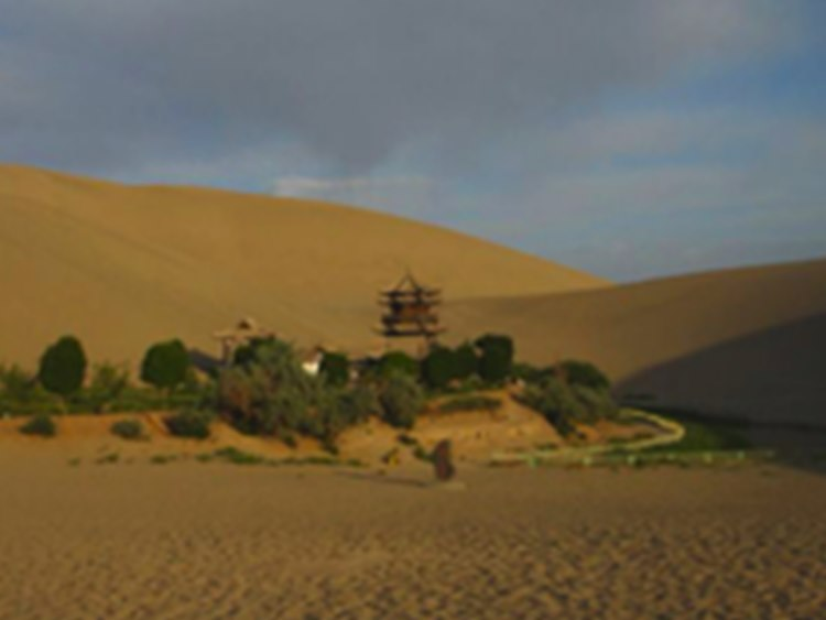 seeing namely the Crescent Lake near Dunhuang