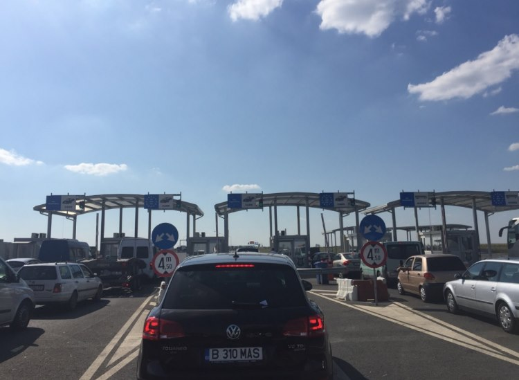 Crossing the border into Hungary