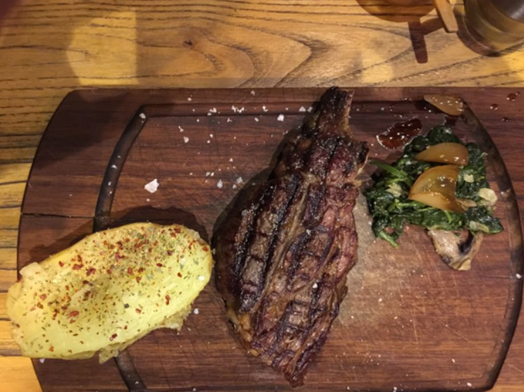 First real steak in weeks