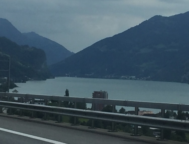 Many lakes could be seen on the way to Switzerland and Lichtenstein