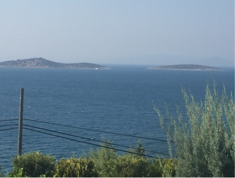 The Mediterranean Sea on the coats close to Bodrum
