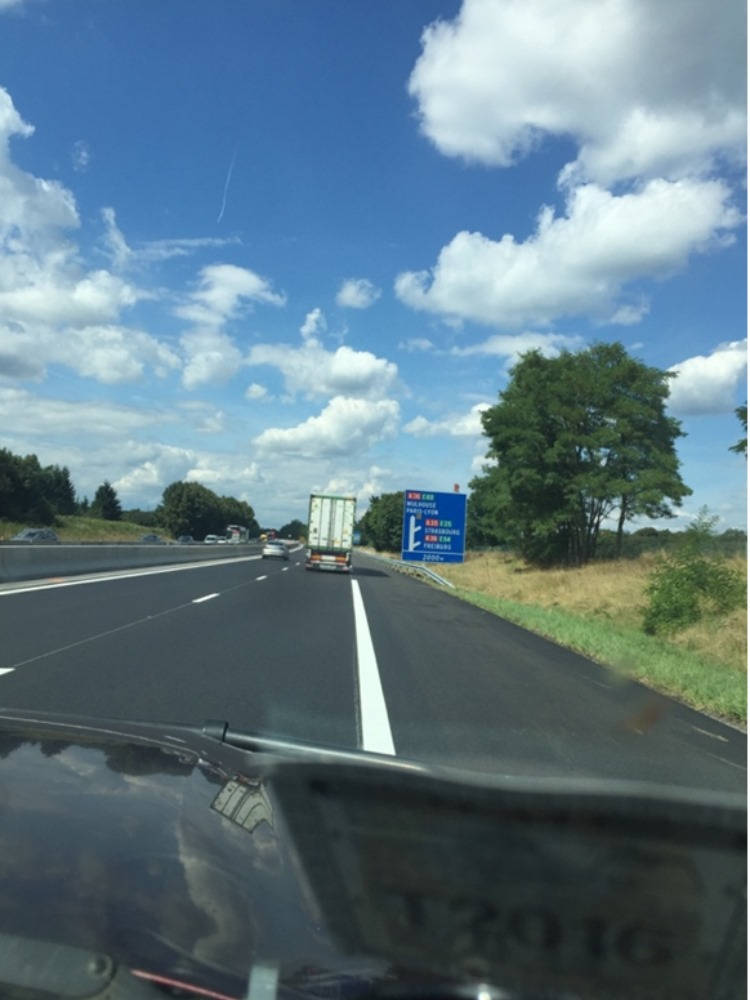 The highway in France