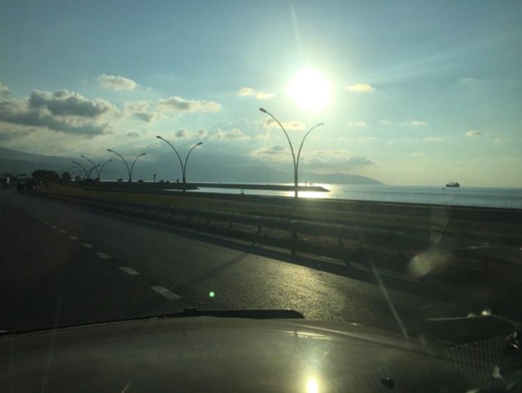 black sea scenic sunset