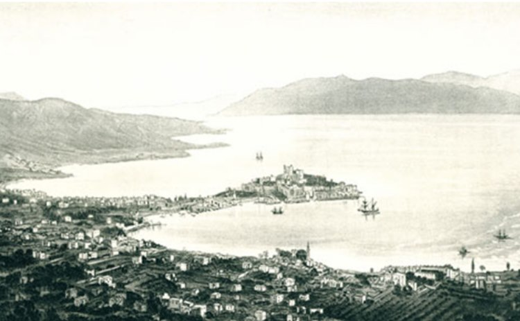 old file picture of the castle of Bodrum…